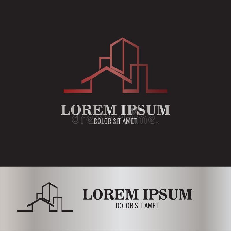 Logotipo home da propriedade ilustração stock