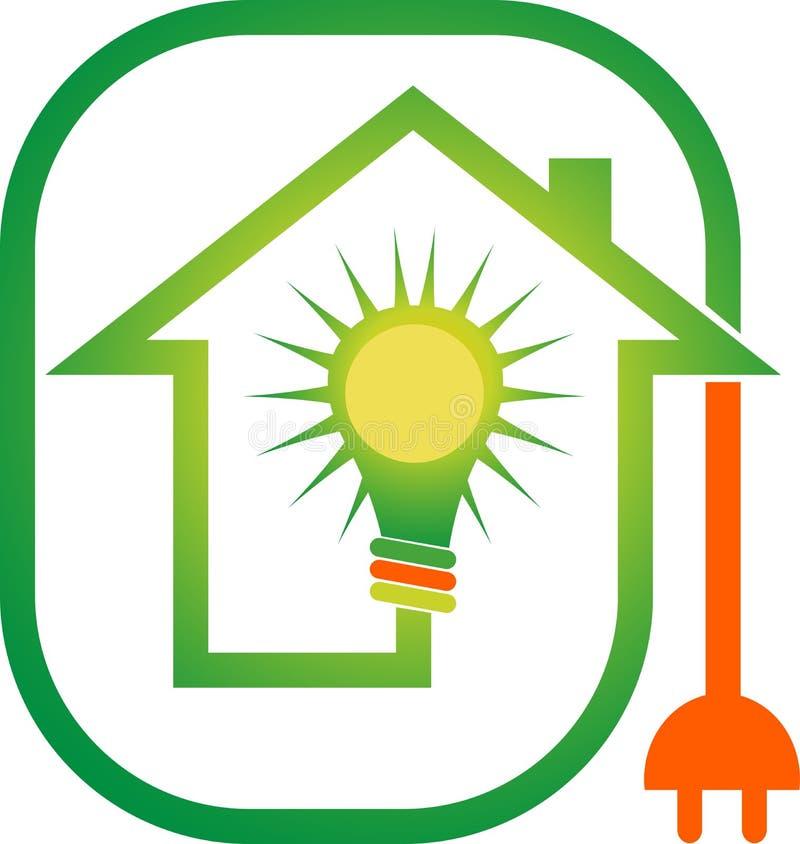 Logotipo home do poder ilustração royalty free
