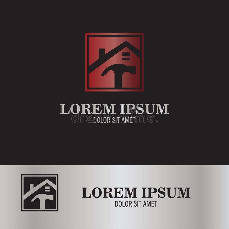 Logotipo home do reparo ilustração stock