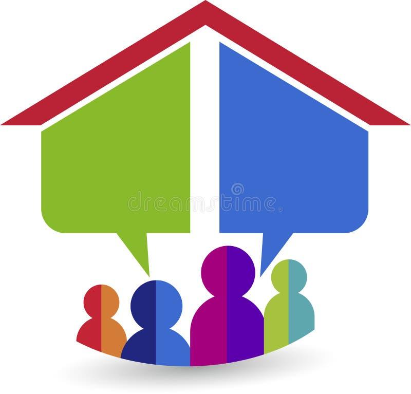Logotipo home ideal ilustração stock