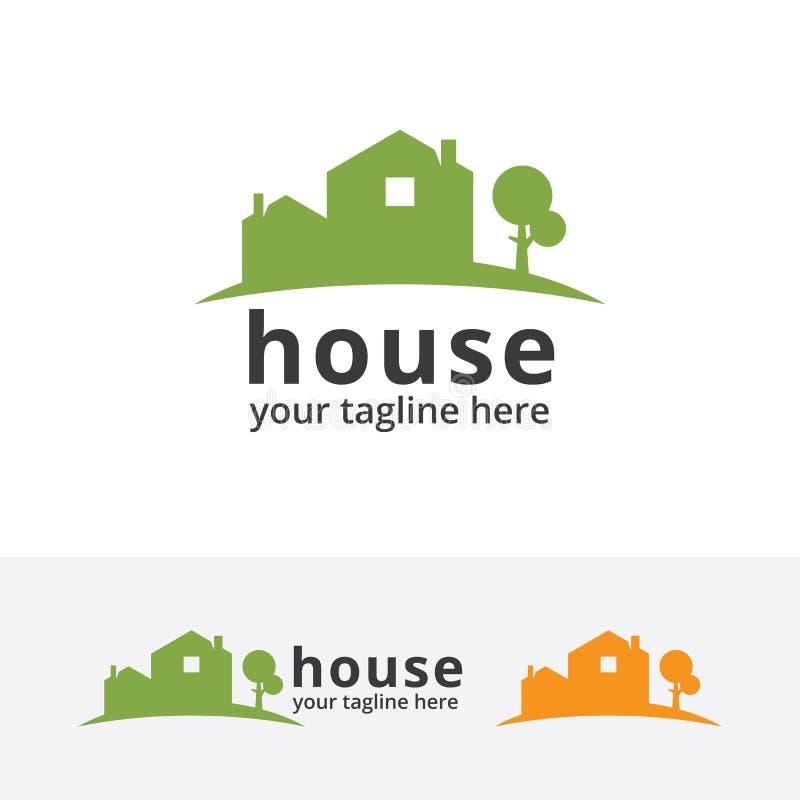 Logotipo home verde ilustração royalty free