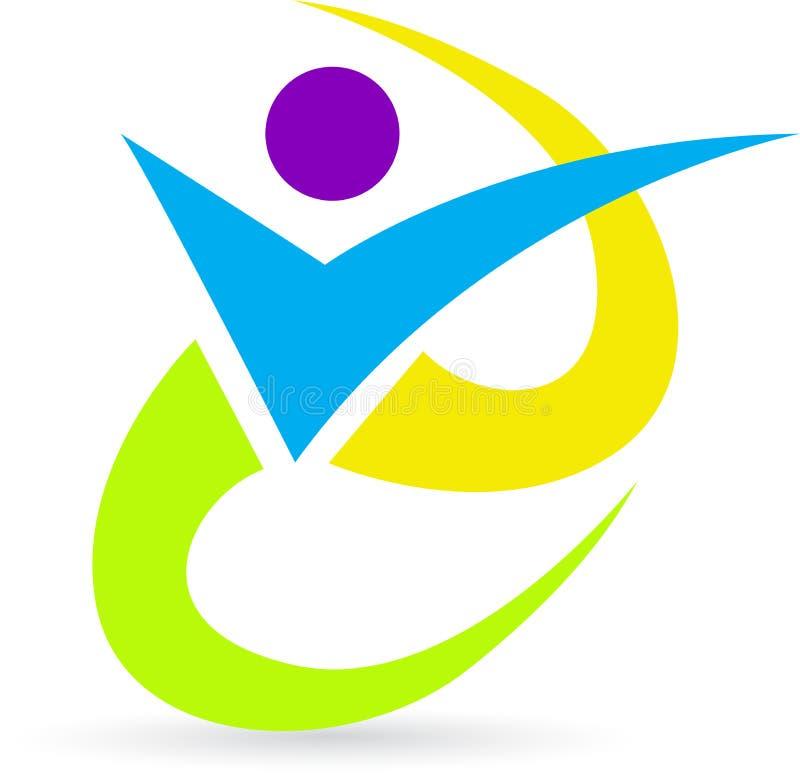 Logotipo humano ilustração do vetor