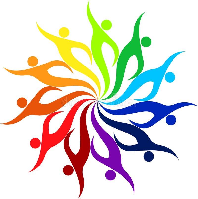 Logotipo humano ilustração royalty free