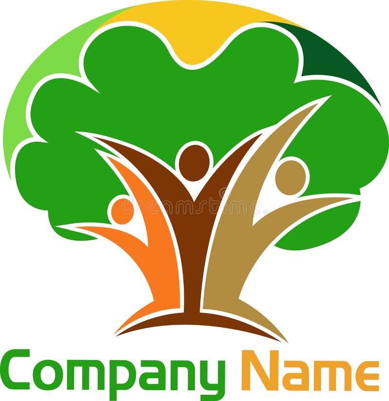 Logotipo humano da árvore ilustração stock
