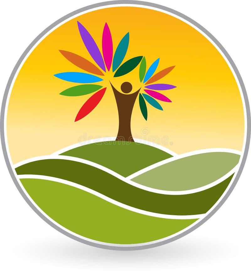Logotipo humano da árvore ilustração royalty free