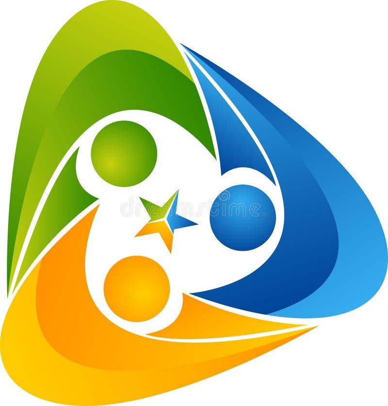 Logotipo humano del triángulo libre illustration