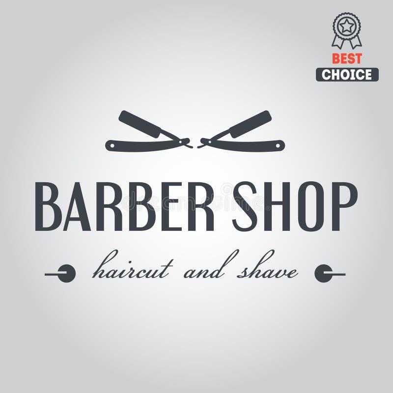 Logotipo, icono o logotipo para la barbería ilustración del vector