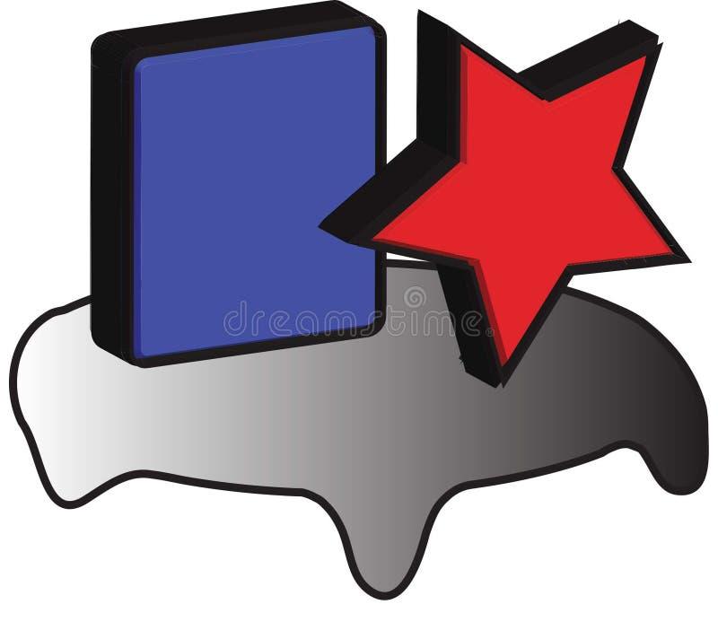 Logotipo ideal stock de ilustración
