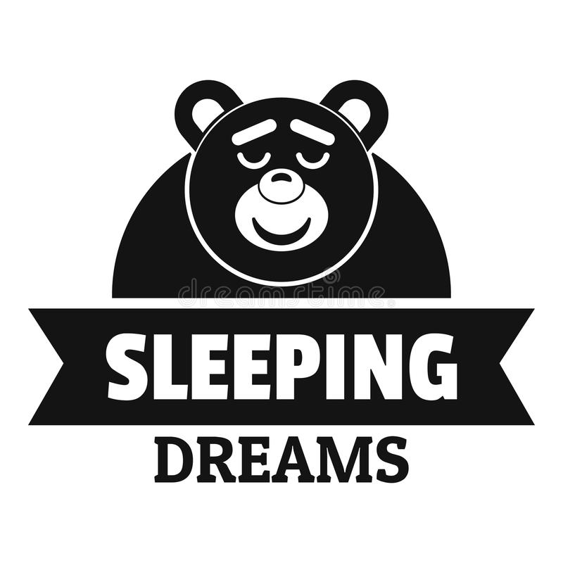 Logotipo ideal el dormir, estilo negro simple stock de ilustración