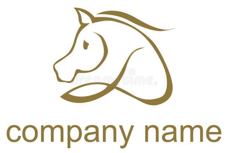 Logotipo ilustrado do cavalo ilustração royalty free