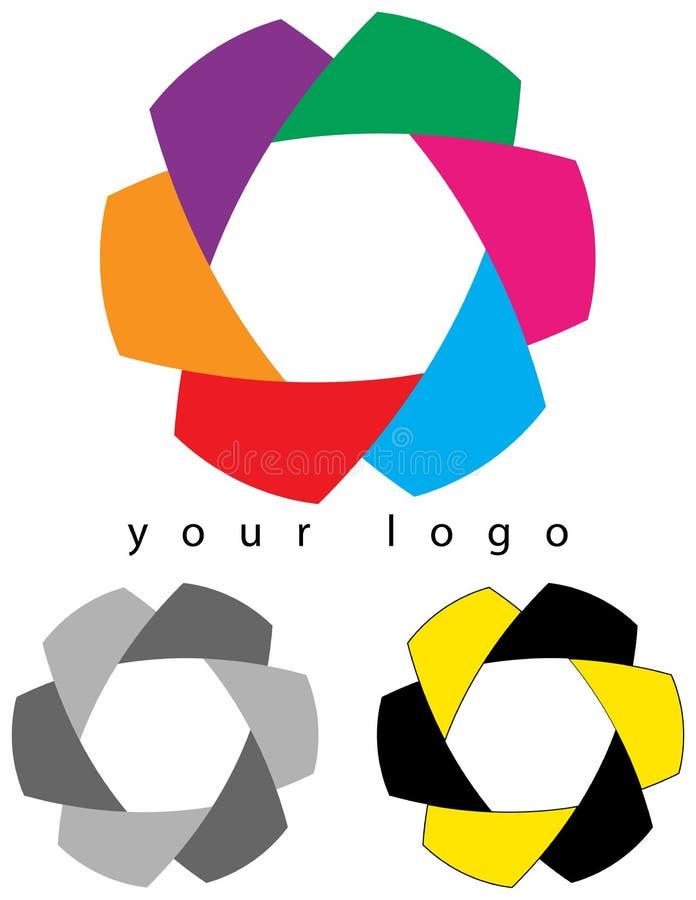 Logotipo incorporado ilustração stock