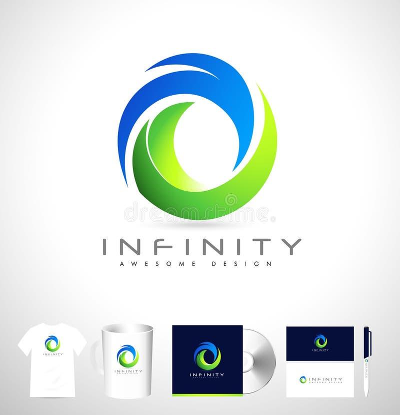 Logotipo incorporado criativo Logo Design incorporado abstrato ilustração royalty free