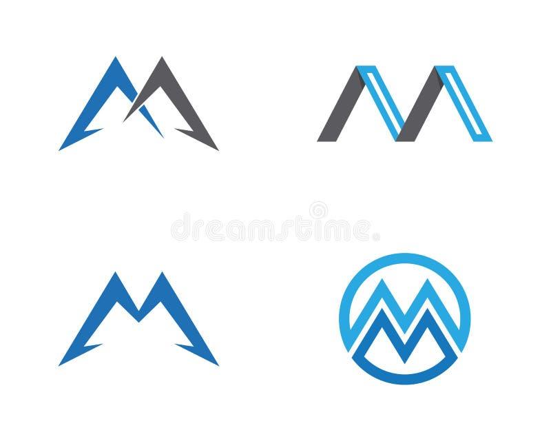 Logotipo incorporado da letra do negócio M ilustração royalty free