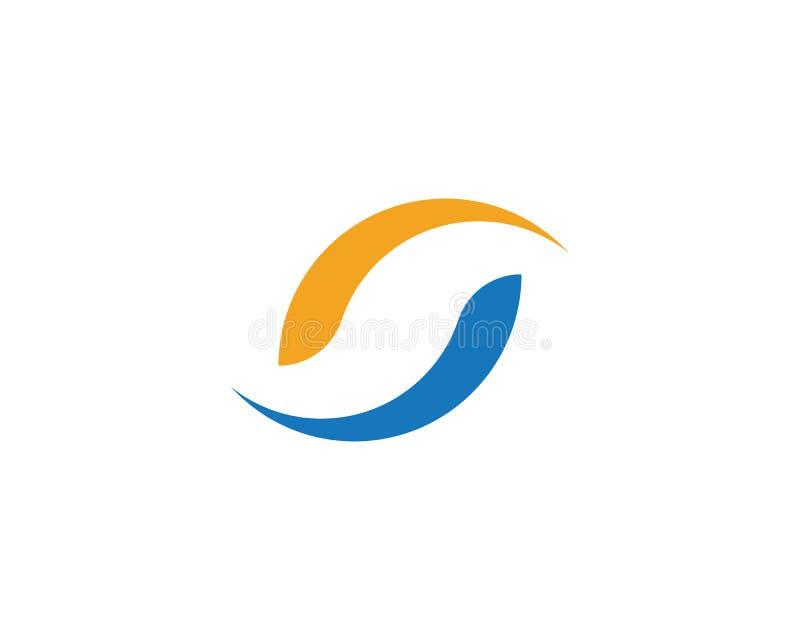 Logotipo incorporado da letra do negócio S ilustração do vetor