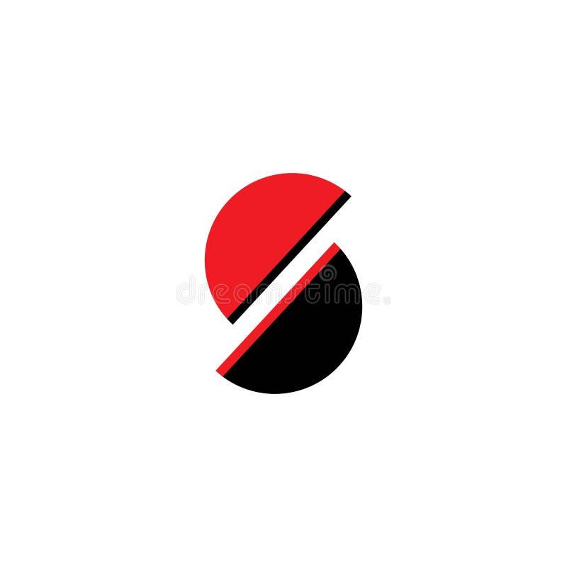 Logotipo incorporado da letra do neg?cio S ilustração royalty free
