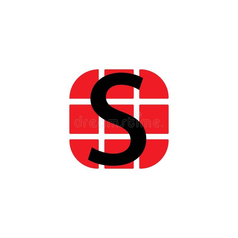 Logotipo incorporado da letra do neg?cio S ilustração stock