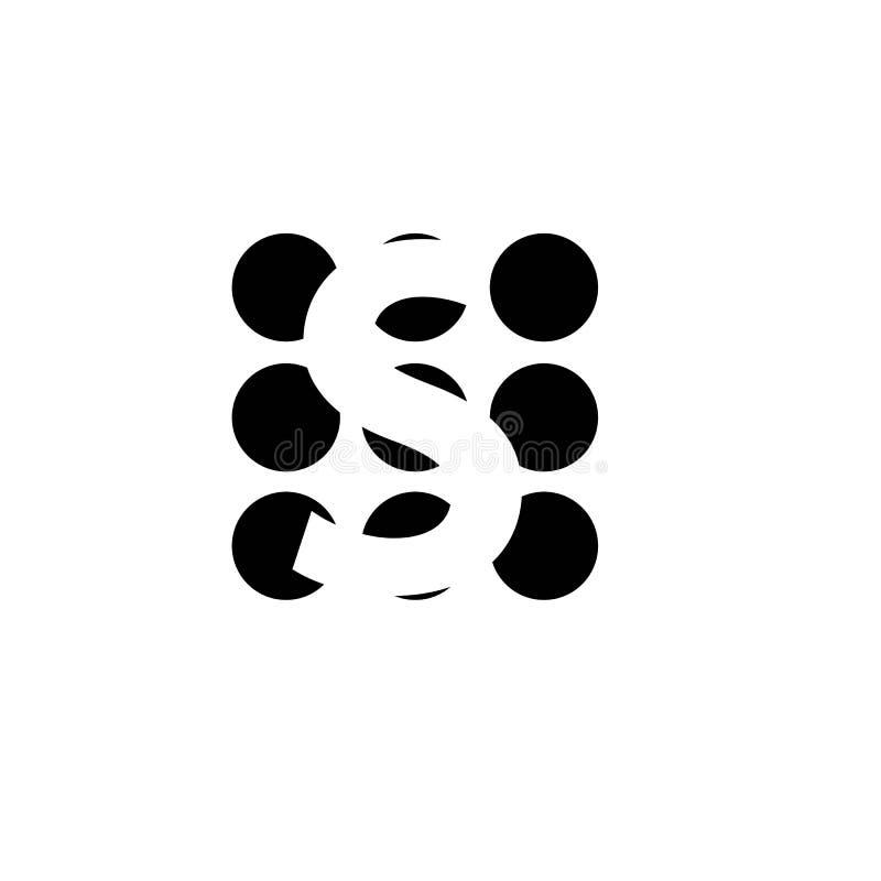 Logotipo incorporado da letra do neg?cio S ilustração do vetor