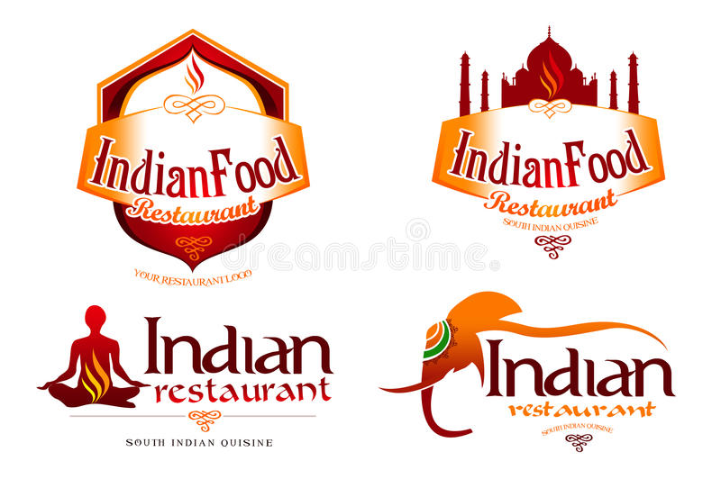 Logotipo indiano do alimento