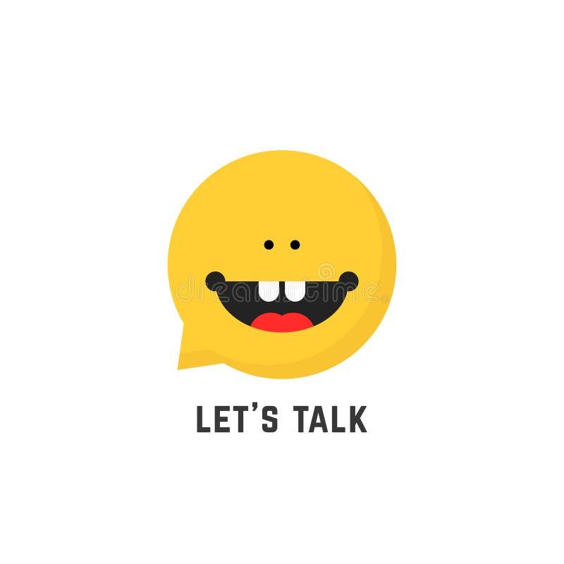 Logotipo infantil del terapeuta de discurso stock de ilustración