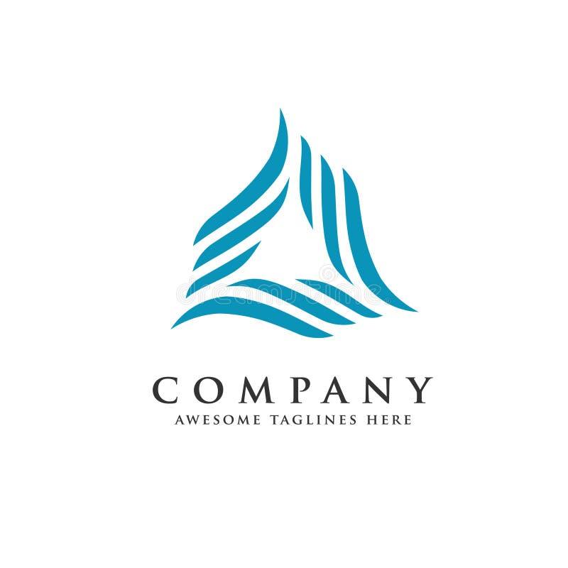 Logotipo infinito de la tecnología del triángulo abstracto del remolino stock de ilustración