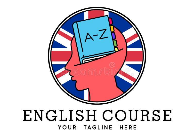 Logotipo inglés del curso fotos de archivo libres de regalías