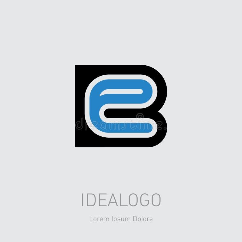Logotipo inicial de B e de E PARA SER logotype do monograma das iniciais EB - elemento ou ícone do projeto Ilustra??o do vetor ilustração royalty free