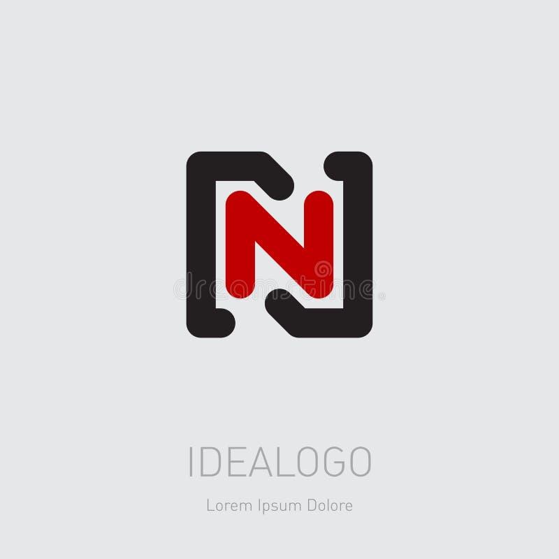 Logotipo inicial de N y de N NN - Elemento o icono del diseño del vector Logotipo inicial del monograma libre illustration