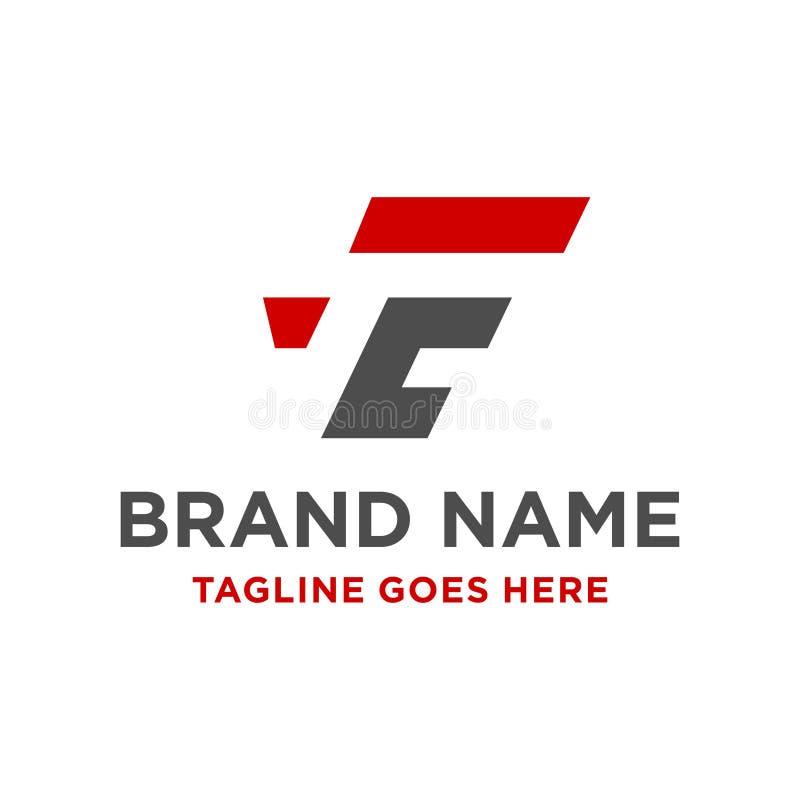 Logotipo inicial FC stock de ilustración