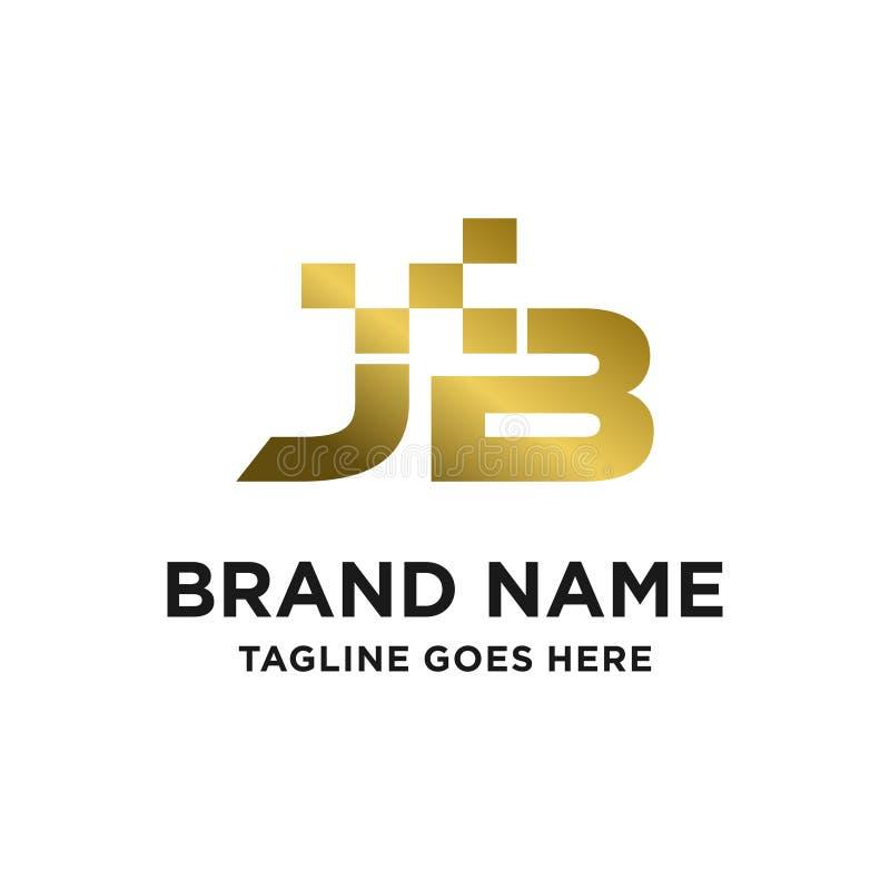 Logotipo inicial JB stock de ilustración