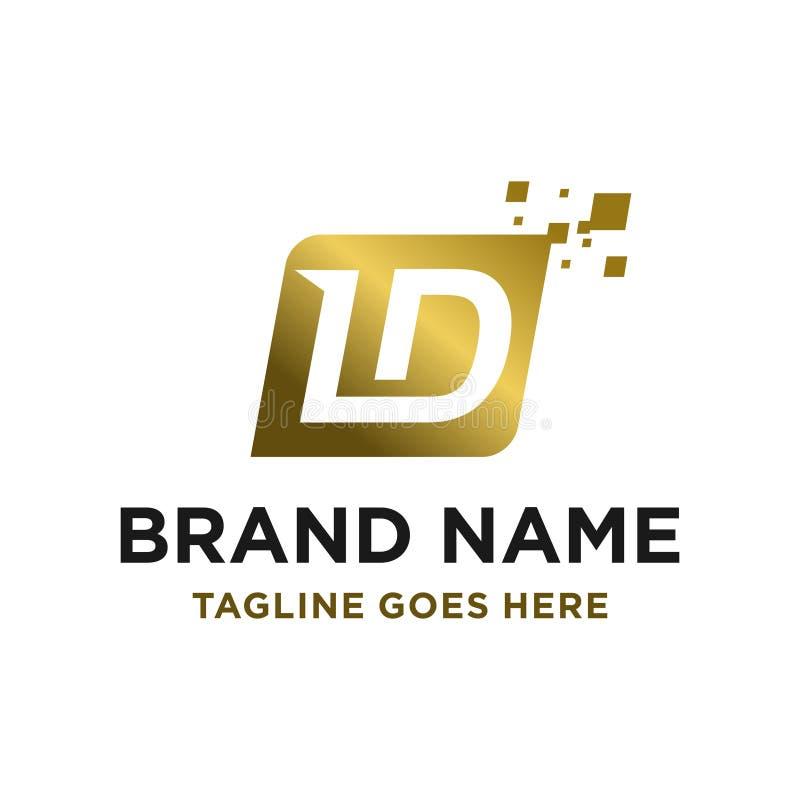 Logotipo inicial LD ilustración del vector