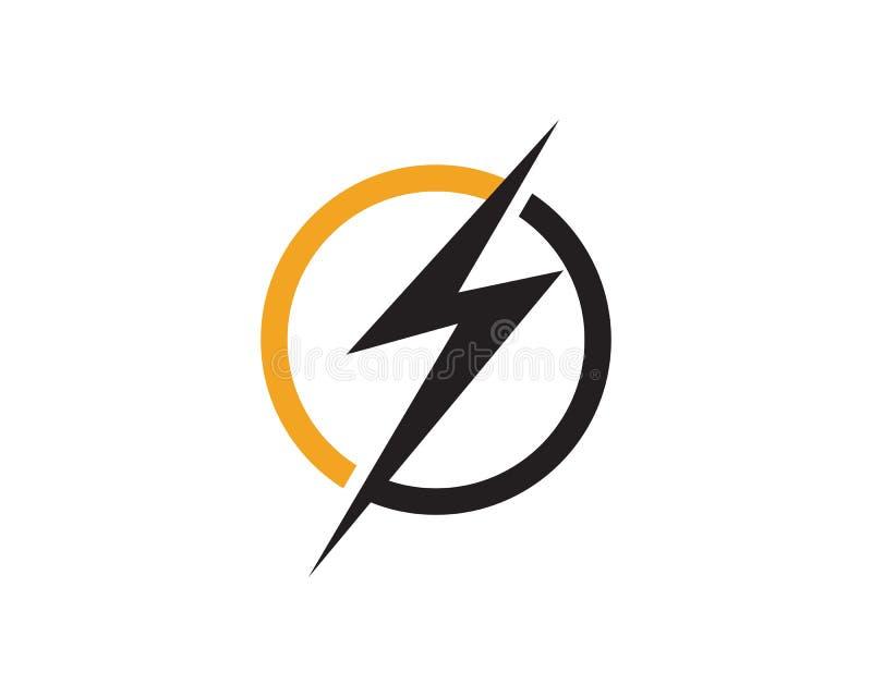 Logotipo instantâneo do parafuso de trovão ilustração royalty free