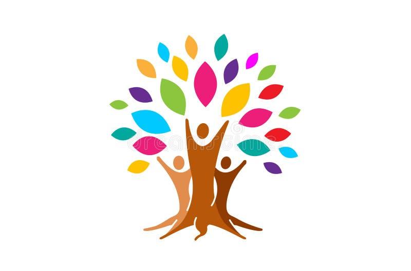 Logotipo interno da criança colorida criativa das mãos ilustração do vetor