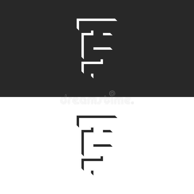 Logotipo isométrico de las letras de los TS de las iniciales Monograma creativo del ST de la forma geométrica negativa del diseño stock de ilustración