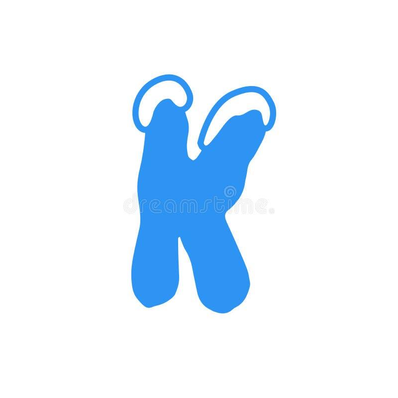 Logotipo K da letra da neve do vetor imagens de stock royalty free
