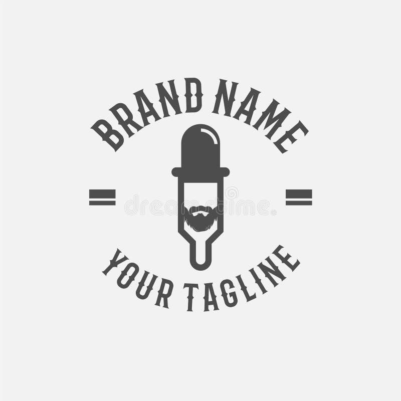 Logotipo líquido da loja de Vape Ilustração simples do logotipo líquido da loja do vape para o design web isolada no fundo branco ilustração do vetor