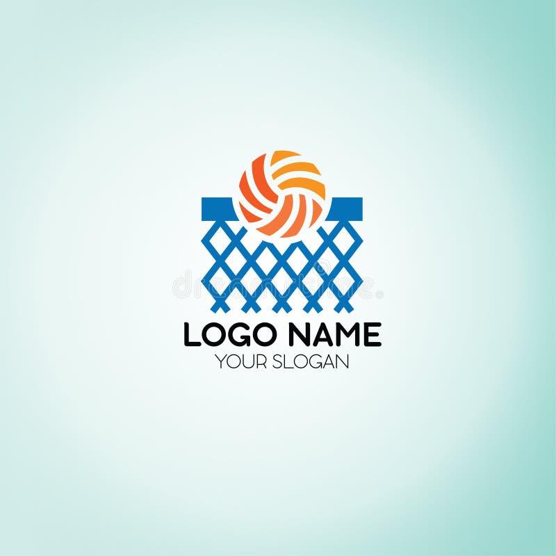 Logotipo líquido do basquetebol ilustração royalty free