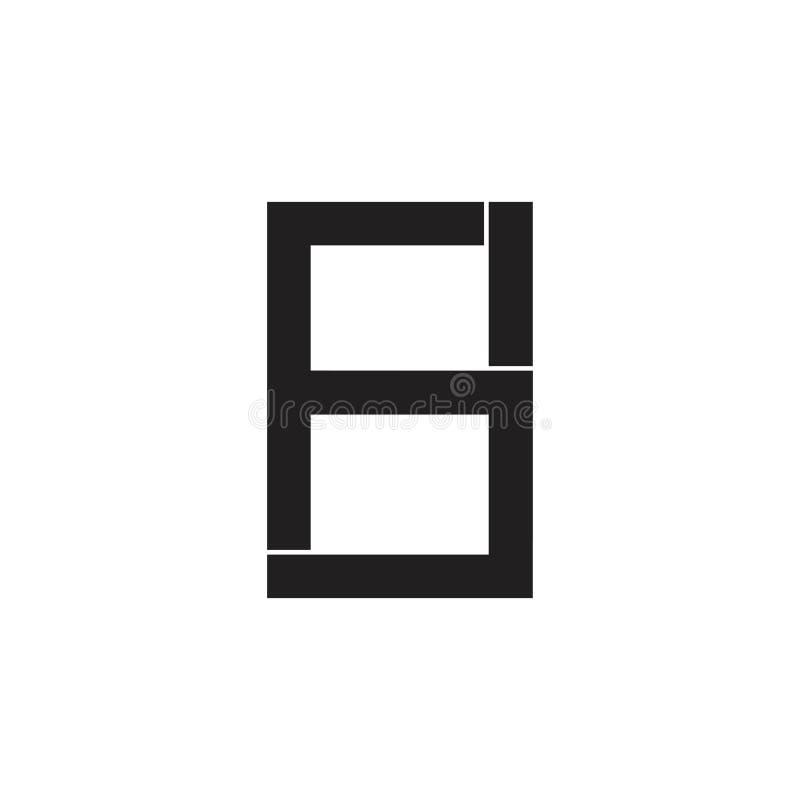 Logotipo ligado geométrico del extracto sh de la letra del extracto ilustración del vector