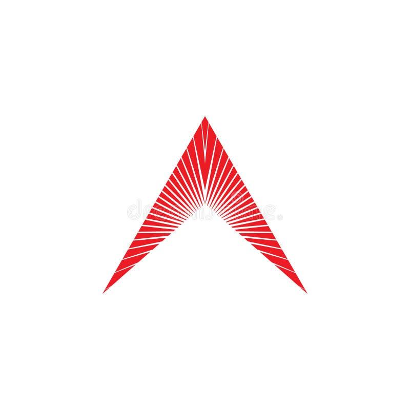 Logotipo ligero de la flecha libre illustration