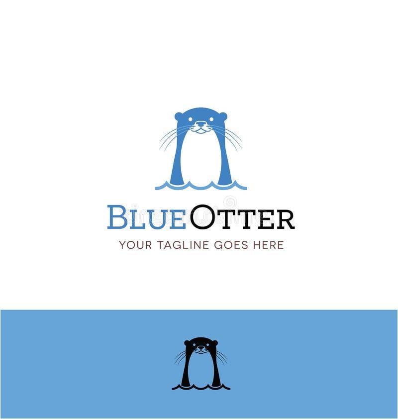 Logotipo lindo de la nutria para el negocio creativo stock de ilustración