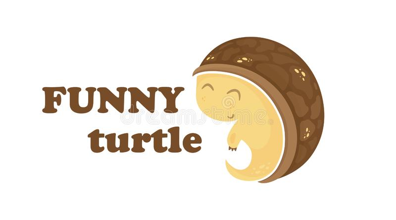 Logotipo lindo de la tortuga libre illustration