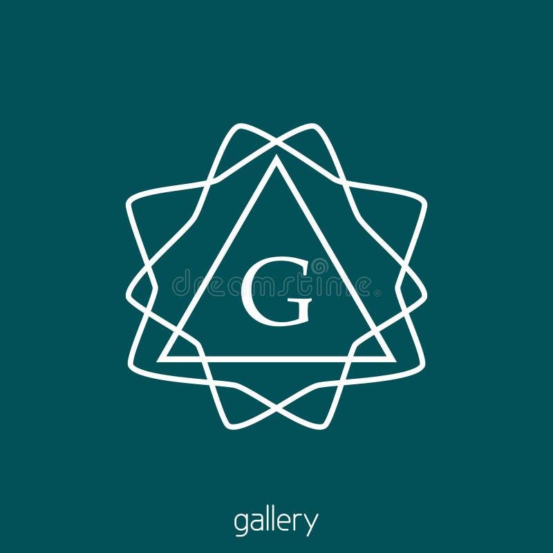 Logotipo linear con la letra G Monograma del inconformista stock de ilustración