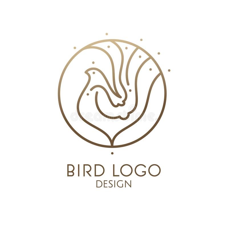 Logotipo linear del pájaro libre illustration