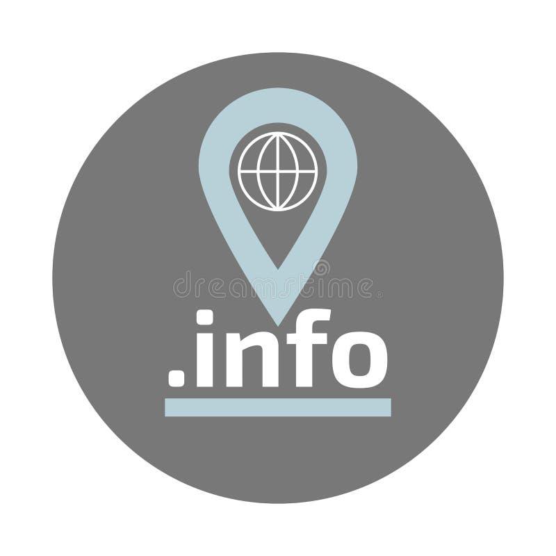 Logotipo liso do vetor da zona do domínio da informação ilustração stock