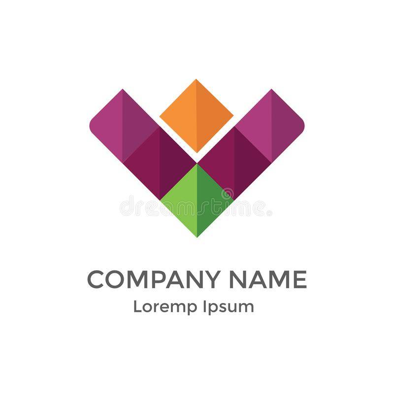 Logotipo liso moderno simples para crescer incorporado foto de stock royalty free