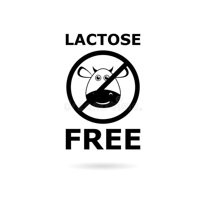 Logotipo livre da lactose preta, ícone livre da lactose ilustração royalty free