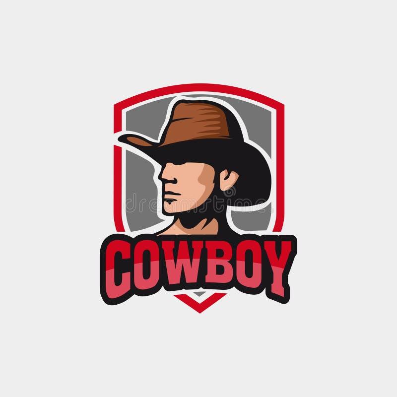 Logotipo livre do e-esporte do vaqueiro ilustração do vetor
