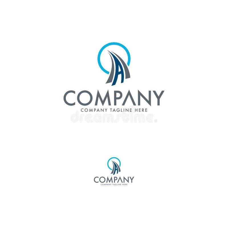 Logotipo logístico y de la letra creativo A stock de ilustración
