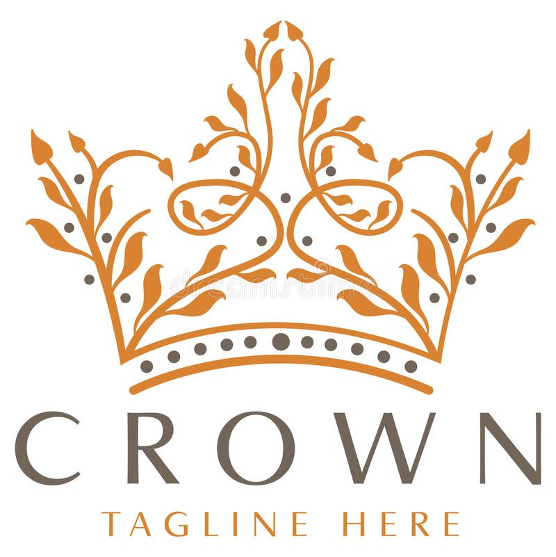 Logotipo luxuoso da coroa ilustração stock
