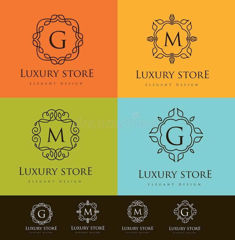 Logotipo luxuoso da letra ilustração stock