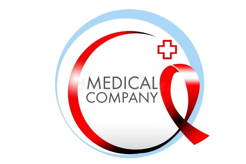 Logotipo médico da fita ilustração do vetor